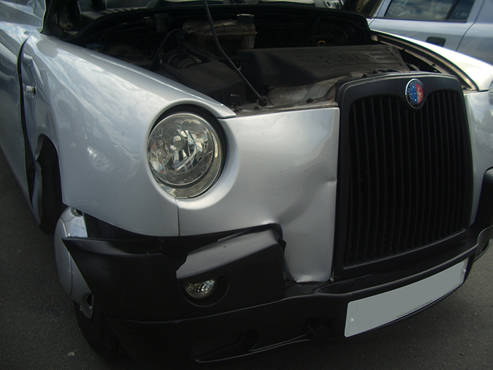 Some damage to headlamp & front bumper too